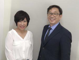 竹内代表と夏目カウンセラー