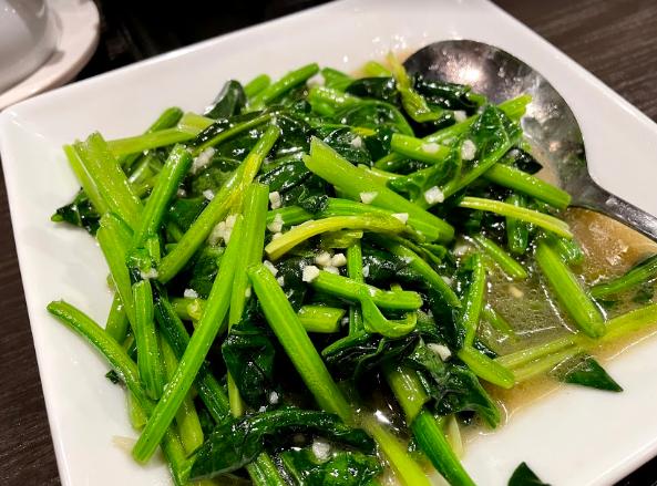 青菜の天然塩炒め