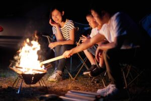 家族焚き火